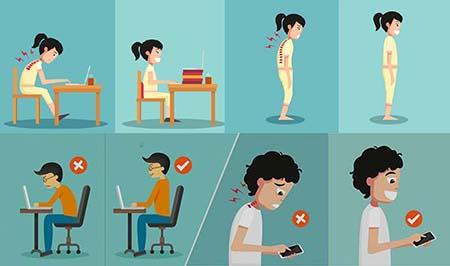 điều chỉnh tư thế đúng giúp trẻ phát triển chiều cao tốt